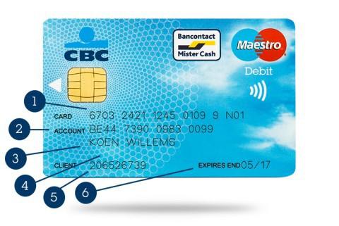 Carte Bancaire Fortis.Quel Est Mon Numero De Carte Ou Numero De Compte Cbc Banque Et